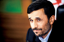 Iranian President Mahmoud Ahmadinejad is interviewed by editors from The Associated Press, Tuesday, Sept. 22, 2009, in New York. (AP Photo/Henny Ray Abrams)