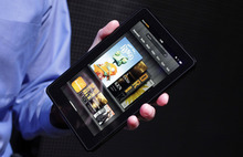 (AP Photo/Mark Lennihan, FILE) Amazon launched the $199 tablet last November. It was the first Kindle with a color screen and the ability to run third-party applications, placing it in competition with Apple Inc.'s iPad, at half the price of the cheapest iPad.