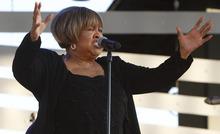 Leah Hogsten  |  The Salt Lake Tribune Mavis Staples performs in concert, August 28, 2012 at Red Butte Garden. Staples opened for headliner Bonnie Raitt.