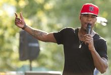 FILE - In an Aug. 3, 2012 file photo, Ne-Yo performs on ABC's