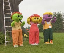 The Oogieloves -- Goobie, Zoozie and Toofie (from left) -- make their introduction in
