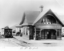Union Pacific depot in Park City, around 1870.