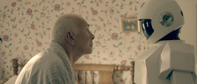 Frank (Frank Langella) plays an ex-thief in the early stages of Alzheimer's who is aided by a robot, in the comedy
