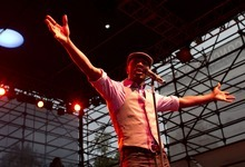 Lennie Mahler  |  The Salt Lake Tribune Aloe Blacc performs in the final night of the Twilight Concert Series on Thursday, Aug. 30, 2012, at Pioneer Park in Salt Lake City.