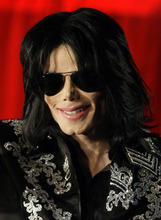 FILE - In this March 5, 2009 file photo, Michael Jackson is shown at a press conference in London.  (AP Photo/Joel Ryan, File)
