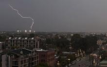 Lennie Mahler  |  The Salt Lake Tribune Lightning strikes southeast of Salt Lake City on Saturday, Sept. 1, 2012.