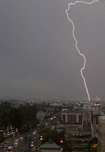 Lennie Mahler  |  The Salt Lake Tribune Lightning strikes over South Salt Lake on Saturday, Sept. 1, 2012.