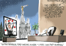 This Pat Bagley editorial cartoon appears in The Salt Lake Tribune on Friday, Aug. 31, 2012.