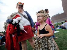 Molly Haen, 3 arrived in costume with her mother Rachel Haen of St. Louis Park, Minn. for the Walker Art Center's first