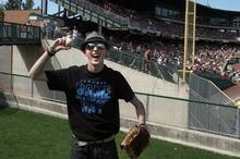 Rick Egan  | The Salt Lake Tribune   Alex Haeter, 17, West Jordan, celebrates after catching a home run ball, at the Salt Lake Bees final baseball game of the season agains Sacramento at Springmobile ballpark, Monday, September 3, 2012.