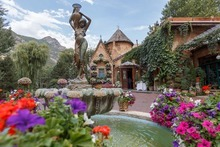Trent Nelson     The Salt Lake Tribune Sandy's La Caille restaurant has seen its grounds transformed in the last year, thanks to new owners who have invested in a community garden and a replanted vineyard, as well as a new chef, an updated menu and a $250,000 renovation of the kitchen.