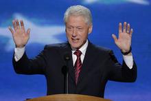 Former President Bill Clinton addresses the Democratic National Convention in Charlotte, N.C., on Wednesday, Sept. 5, 2012. (AP Photo/J. Scott Applewhite)