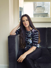 This June 19, 2012 photo shows recording artist Alanis Morissette at the Trump International Hotel in New York. Morissette is feeling a little more appreciated as a woman these days, and her new album,