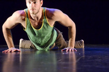 Courtesy photo Dancer Joel Brown, who is paralyzed in the lower half of his body, performing in February in