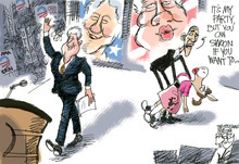 This Pat Bagley editorial cartoon appears in The Salt Lake Tribune on Thursday, September 6, 2012.