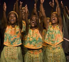 Courtesy of Davis Conference Center Members of the world-class African Children's Choir perform. Thursday night the choir will sing at the Davis Conference Center in Layton. Proceeds from the event will go to  equipment for a special ADA approved playground being built on Centennial Park near 2000 West and Antelope Drive (1700 South) in Syracuse. The playground allows children of all abilities to play together.