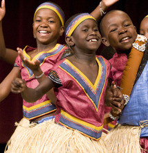 Members of the world-class African Children's Choir perform. Thursday night the children will perform at the conference center in Layton. Proceeds from the event will go to playground equipment for a special ADA approved playground being built on Centennial Park near 2000 West and Antelope Drive (1700 S.) in Syracuse. The playground allows children of all abilities to play together. Courtesy: Davis Conference Center