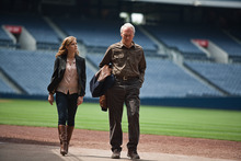 This film image released by Warner Bros. Pictures shows Clint Eastwood, right, and Amy Adams in a scene from