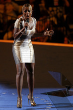 Singer Mary J. Blige preforms during the Democratic National Convention in Charlotte, N.C., on Thursday, Sept. 6, 2012. (AP Photo/Carolyn Kaster)