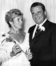 FILE - In this July, 1969 file photo, NFL president and Cleveland Browns owner Art Modell and his wife Patricia are shown in Las Vegas. Former Ravens owner Modell has died. He was 87. The team said Modell died of natural causes early Thursday, Sept. 6, 2012, at Johns Hopkins Hospital, where he had been admitted Wednesday. Patricia Modell, a longtime television actress died Oct. 12, 2011.  (AP Photo/File)