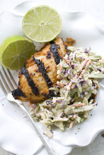 This Thai Peanut Barbecue Turkey Cutlet is made with a sauce that has complex barbecue flavors, but comes from an easy recipe. (AP Photo/Matthew Mead