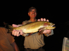Utah Division of Wildlife Resources Conservation Officer, Jack Lytle, with a