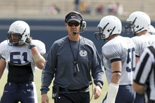 Trent Nelson  |  The Salt Lake Tribune Utah State head coach Gary Andersen at Utah State's annual Blue and White football game Saturday, April 28, 2012 in Logan.