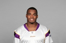 MINNEAPOLIS - 2008:  Adrian Peterson of the Minnesota Vikings poses for his 2008 NFL headshot at photo day in Minneapolis, Minnesota.  (Photo by Getty Images) *** Local Caption *** Adrian Peterson