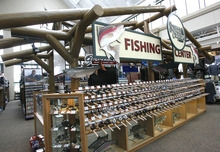 Rick Egan  | The Salt Lake Tribune   FIshing gear in the Scheels sporting goods store in Sandy.  Thursday, September 6, 2012.