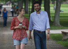 Elizabeth Olsen and Josh Radnor in