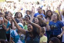 Kim Raff   The Salt Lake Tribune People dance during the 8th annual Brazilian Festival at the Gallivan Center in Salt Lake City, Utah on September 8, 2012.