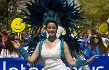 Kim Raff   The Salt Lake Tribune Ana Flavia walks in the Samba Parade during the 8th annual Brazilian Festival at the Gallivan Center in Salt Lake City, Utah on September 8, 2012.