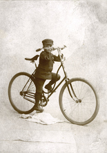 An early child's bicycle circa 1893. Courtesy of Utah Historical Society