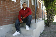 Francisco Kjolseth  |  The Salt Lake Tribune Ernesto Perez, who turns 21 next month, is a success story of Stand a Little Taller (SALT) program, an anti-gang program in SLC that helps young men stay away from gang life and move towards being successful. Perez has been involved in sports programs and or structured SALT activities in the past.