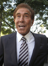 Casino mogul Steve Wynn arrives at court for his slander trial Thursday Sept. 6, 2012 in Los Angeles. Wynn is contesting accusations made by