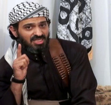 FILE - In this undated frame grab from video posted on a militant-leaning Web site, and provided by the SITE Intelligence Group, shows Saeed al-Shihri, deputy leader of al-Qaida in the Arabian Peninsula. Yemeni officials say a missile believed to have been fired by a U.S. operated drone on Monday has killed al-Qaida's No. 2 leader in Yemen along with five others traveling with him in one car. Al-Qaida's Yemen branch is seen as the world's most active, planning and carrying out attacks against targets in and outside U.S. territory. (AP Photo/SITE Intelligence Group, File)