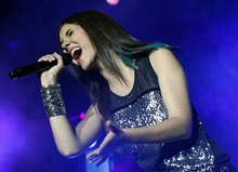Victoria Justice performs at the Great Allentown Fair on Sunday, Sept. 2, 2012 in Allentown, Pa. (AP Photo/The Express-Times, Ashli Truchon)