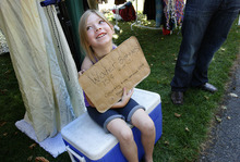 Scott Sommerdorf  |  The Salt Lake Tribune              Eight year old Brooklynn Johnson calls herself a