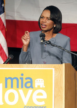 Al Hartmann  |  The Salt Lake Tribune Former Secretary of State Condoleezza Rice criticized the Obama administration for