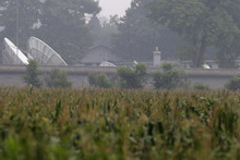 In this photo taken Friday, Aug. 31, 2012, satellite dishes are seen along the walls of Qincheng prison in Beijing, China. Tucked in the hills an hour's drive north of Beijing and hidden behind several guarded, unmarked gates, Qincheng Prison has for a half-century housed miscreants from the political elite: purged Communist Party rivals, corrupt politicians, newspaper editors critical of the government, leaders of the 1989 Tiananmen Square democracy movement, Chairman Mao's power-hungry widow. (AP Photo/Ng Han Guan)