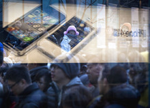 (AP Photo/Andy Wong) Two worker advocacy groups said they had spoken with students who said they had been forced by their teachers to assemble iPhone models at a Foxconn factory in Zhengzhou, in north-central China.