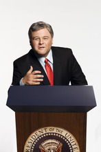 Courtesy photo Comedian/impressionist Frank Caliendo, shown here in his George W. Bush impersonation, performs Thursday, Sept. 13, at the Utah State Fair.