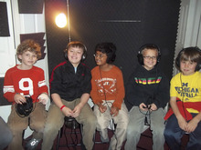 Bonneville students recording their