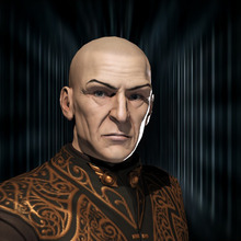 This undated publicity image provided by CCP Games shows Sean Smith's computer-generated avatar portrait as