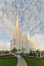 The new LDS Church temple in Brigham City is at the center of a free-speech lawsuit filed by a non-denominational Christian church that claims a city ordinance restricting its right to hand out leaflets on differences between its belief and the Mormon faith is overly broad.  Courtesy photo