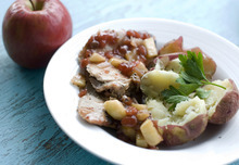 Matthew Mead  |  The Associated Press Mirin enhances the flavor of this pork and apple chutney dish big flavor without a long shopping list.