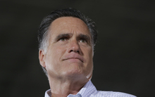 Republican presidential candidate Mitt Romney campaigns at PR Machine Works in Mansfield, Ohio, Monday, Sept. 10, 2012. (AP Photo/Charles Dharapak)