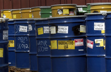 Tribune file photo Barrels of radioactive waste waits to be stored at the  EnergySolutions site in Tooele County in this file photo.
