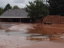 Flooding in Santa Clara, Utah. Photo courtesy St. George Police.
