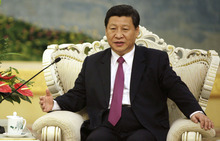 FILE - In this Aug. 29, 2012 file photo, Chinese Vice President Xi Jinping meets with Egypt's President Mohammed Morsi at the Great Hall of the People in Beijing. New rumors about health problems facing China's leader-in-waiting Xi Jinping swirled Thursday, Sept. 13 as the government continued to stonewall on commenting on his condition or whereabouts 12 days after he dropped from sight. (AP Photo/How Hwee Young, Pool, File)